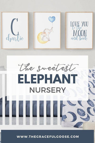 The Sweetest Elephant Themed Nursery
