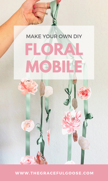 DIY Floral Nursery Mobile