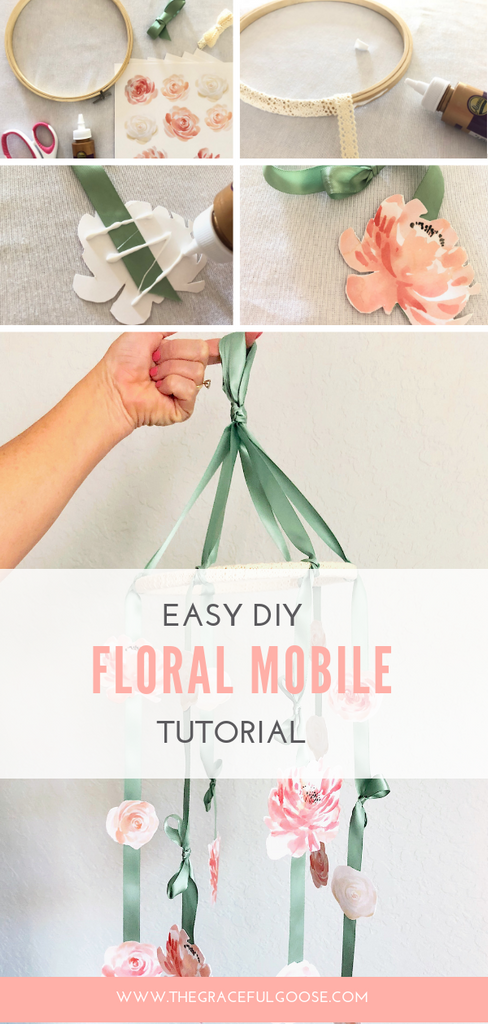 Create your own floral nursery mobile using this easy to follow tutorial