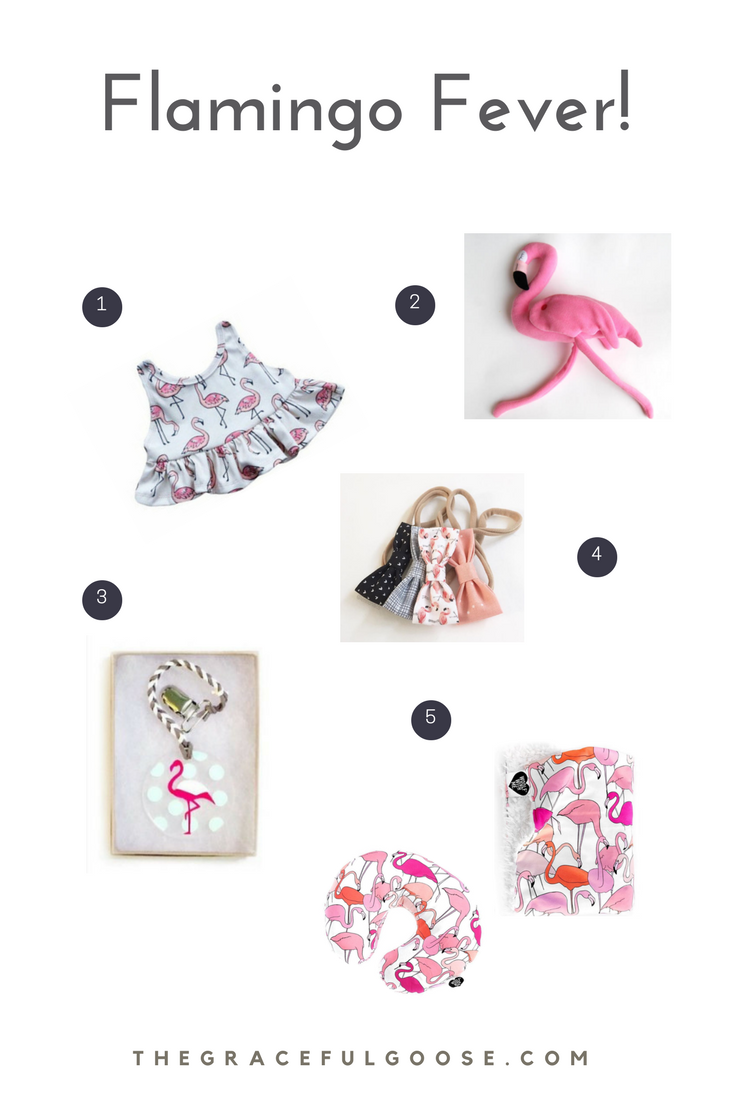 Flamingo themed baby shower gifts