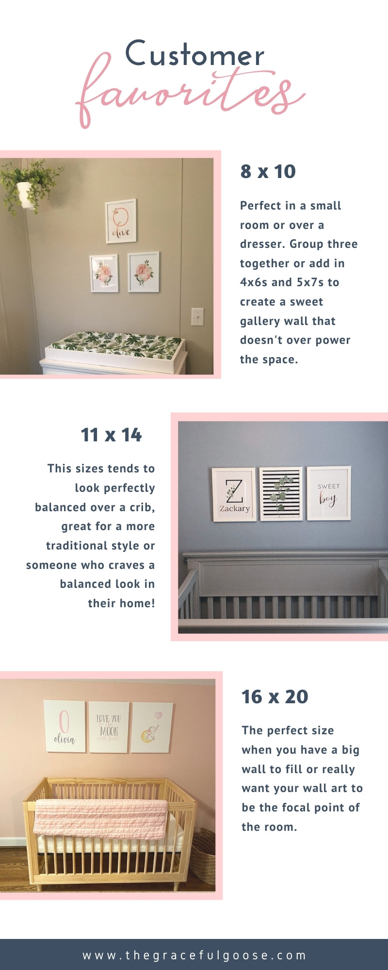 Kids room wall art | What size to pick