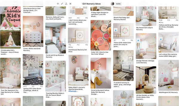 Pinterest nursery images for a baby girl