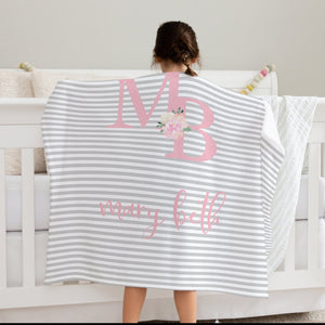 Big Kid Blanket - Double Name | Baby Blankets | The Graceful Goose