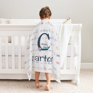 Big Kid Blanket - Train Blanket | Baby Blankets | The Graceful Goose