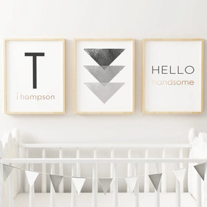 Black & Gold Name Print #1 | Nursery Prints | The Graceful Goose