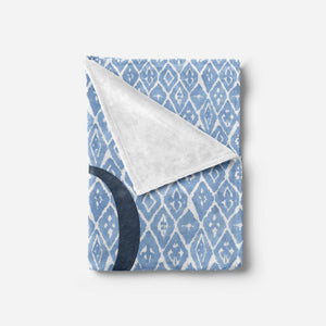 Blue Shibori Print Baby Blanket Baby Blankets | The Graceful Goose