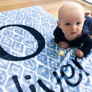 Blue Shibori Print Baby Blanket | Baby Blankets | The Graceful Goose