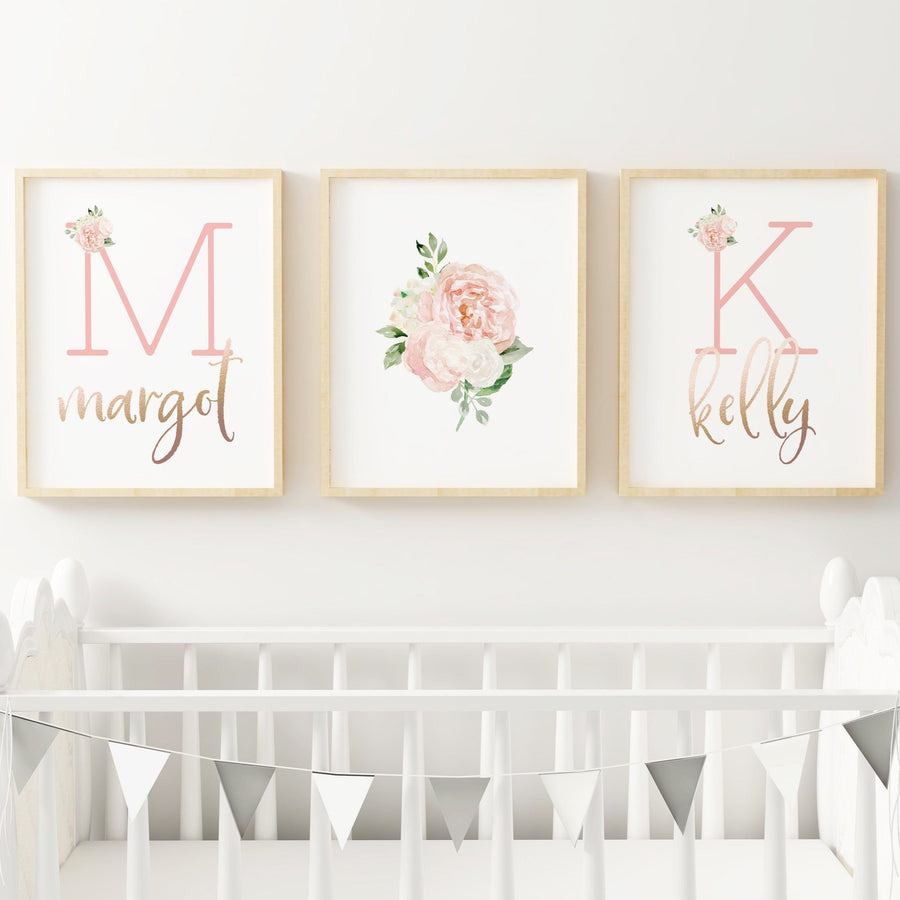 Dark Blush - Twins // Set of 3 Prints | Nursery Prints | The Graceful Goose