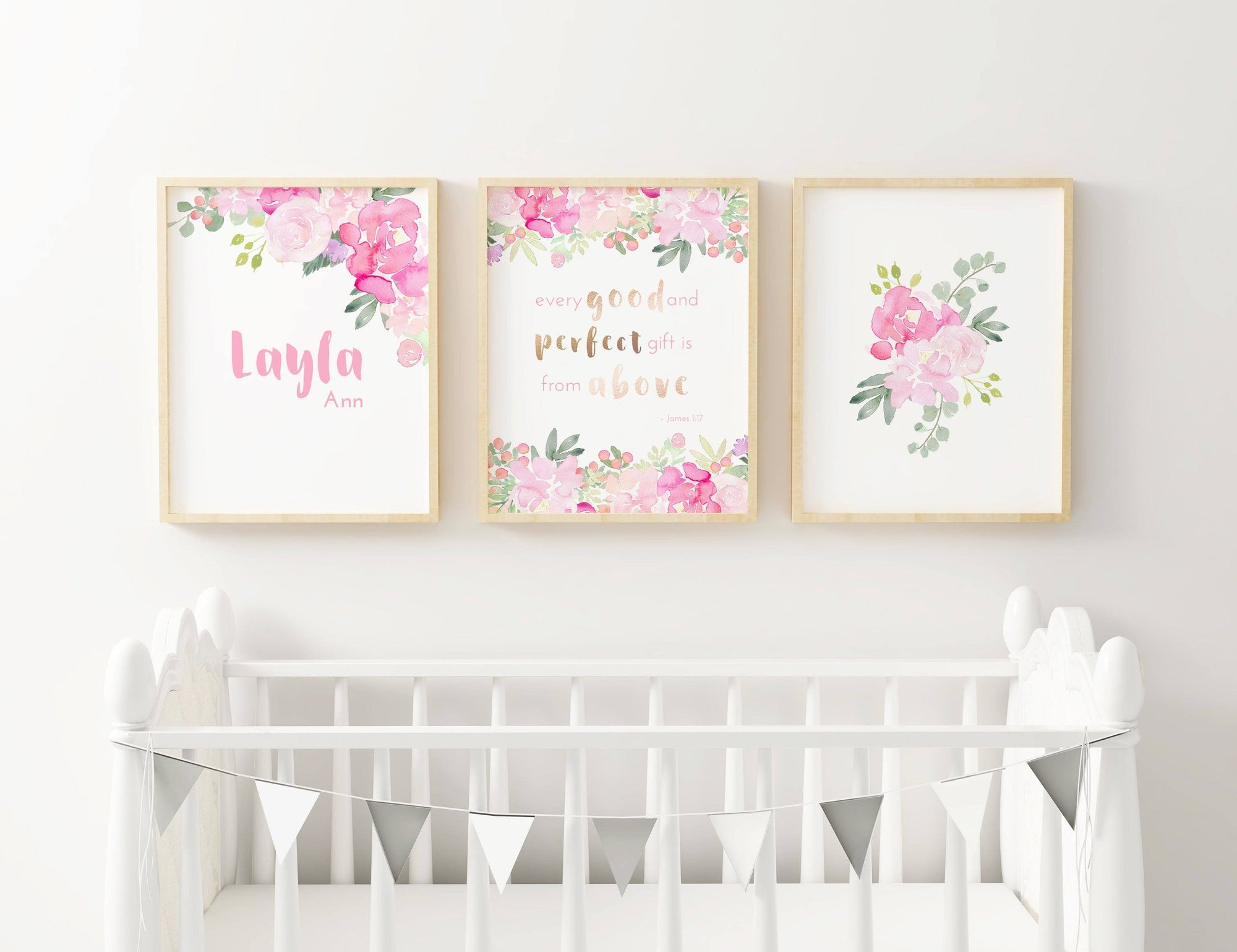 Bright Pink #3 // Set of 3 Prints Nursery Prints TheGracefulGoose