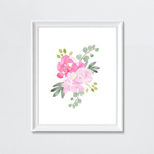 Bright Pink and Grey #2 // Set of 3 Prints