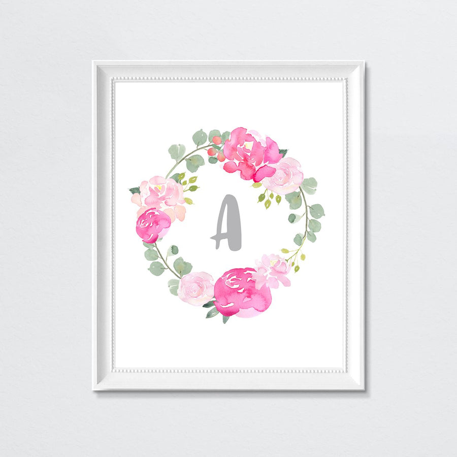 Bright Pink and Grey #3 // Set of 3 Prints
