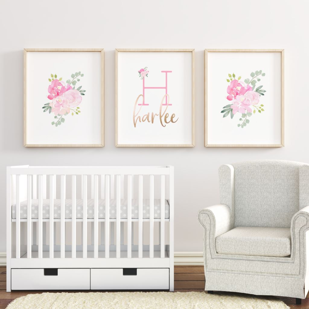 Bright Pink Nursery Print Set #4 | | The Graceful Goose