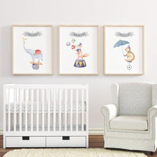 Circus Nursery Print Set Nursery Prints | The Graceful Goose