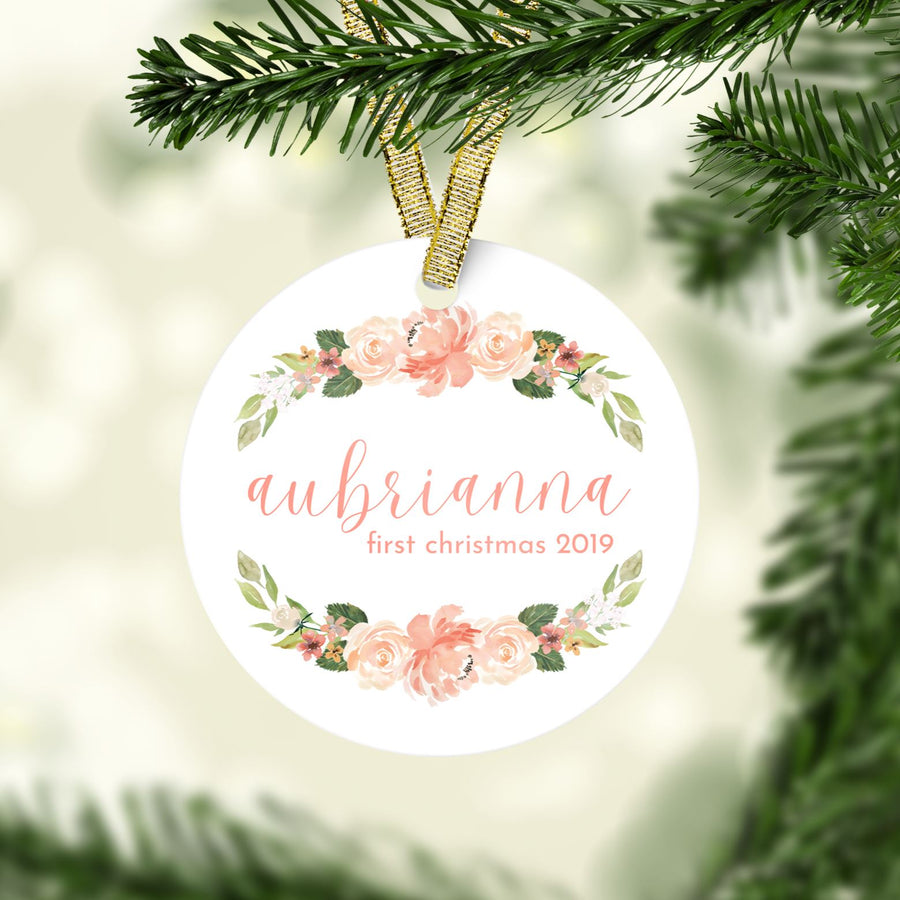 Coral First Christmas Ornament | Christmas Ornaments | The Graceful Goose
