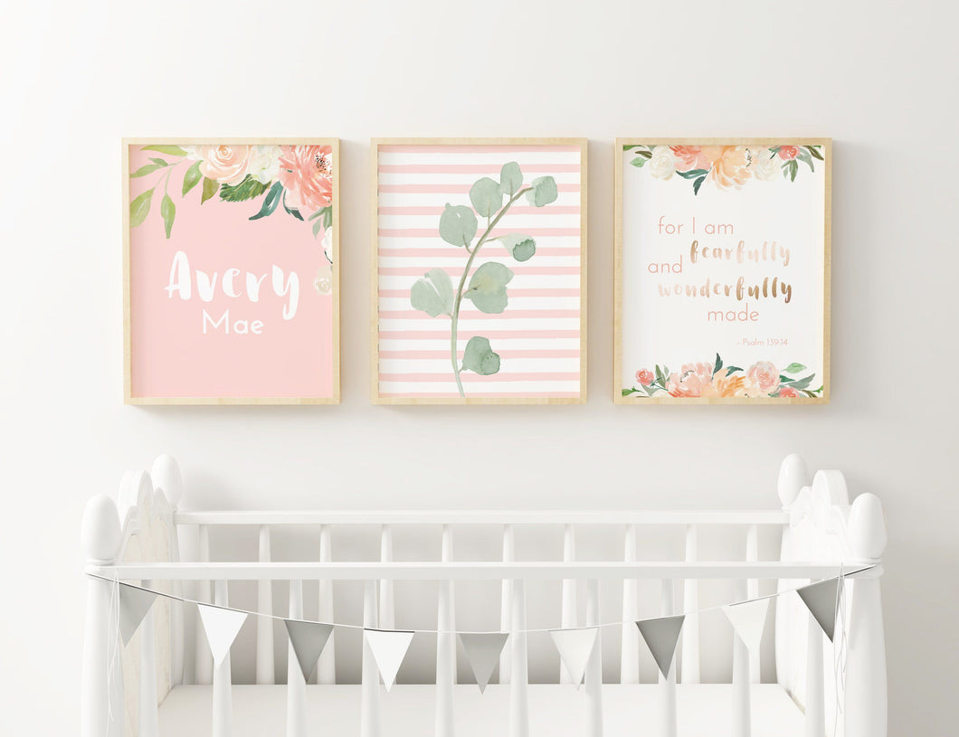 Coral Nursery Print Set #3 | Nursery Prints | The Graceful Goose