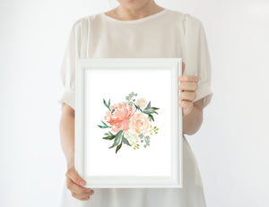 Coral Nursery Print Set #4 | Nursery Prints | The Graceful Goose