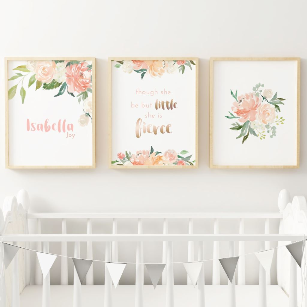Coral #4 // Set of 3 Prints | Nursery Prints | The Graceful Goose