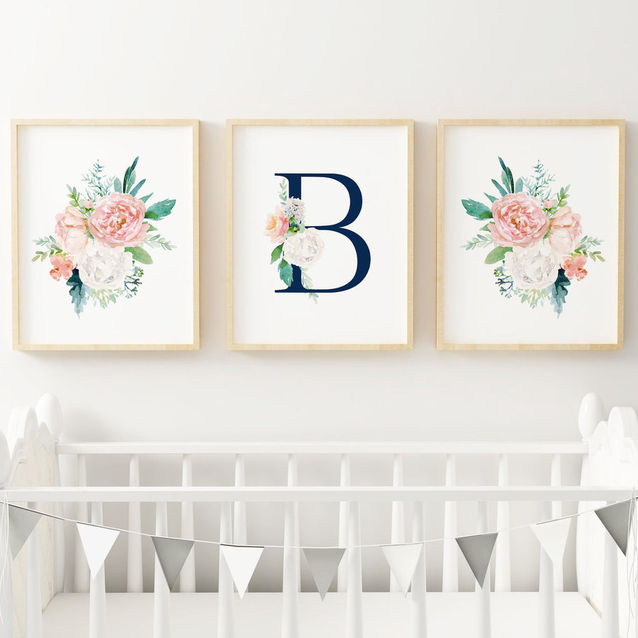 Dark Blush #12 // Set of 3 Prints | Nursery Prints | The Graceful Goose