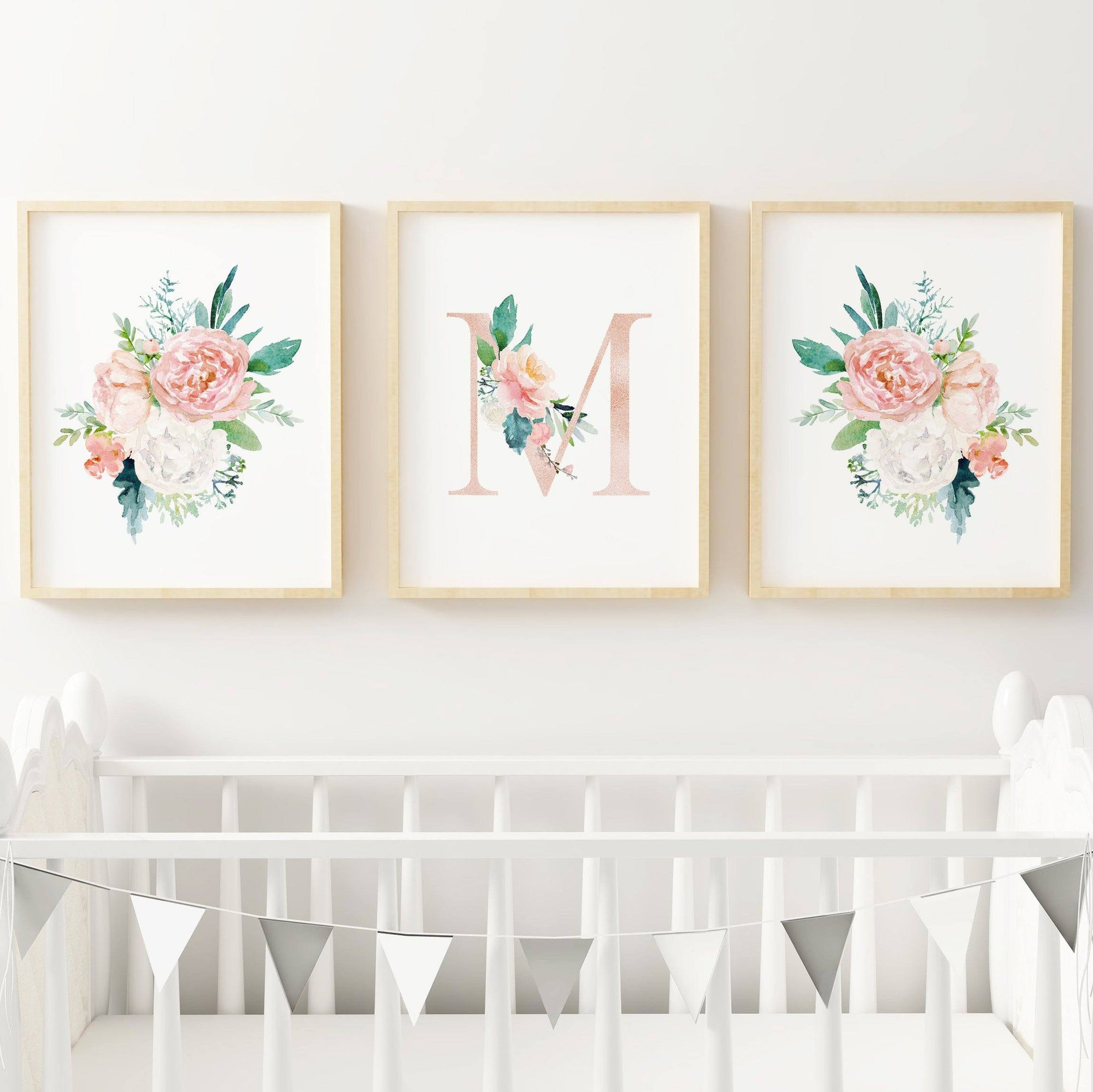 Dark Blush #1 // Set of 3 Prints Nursery Prints TheGracefulGoose