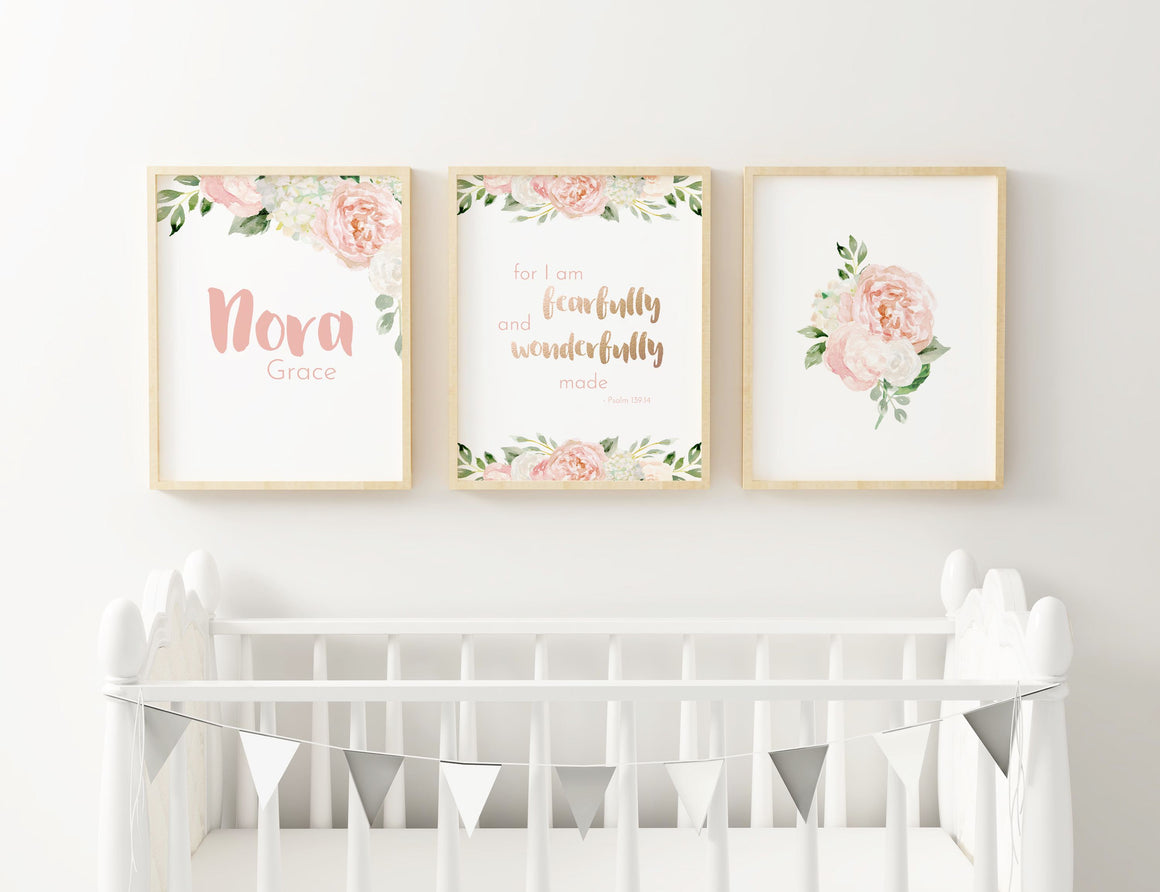 Dark Blush #3 // Set of 3 Prints | Nursery Prints | The Graceful Goose