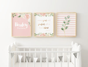 Dark Blush #4 // Set of 3 Prints | Nursery Prints | The Graceful Goose