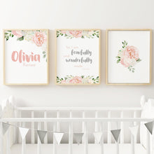 Dark Blush and Grey Nursery Print Set #2