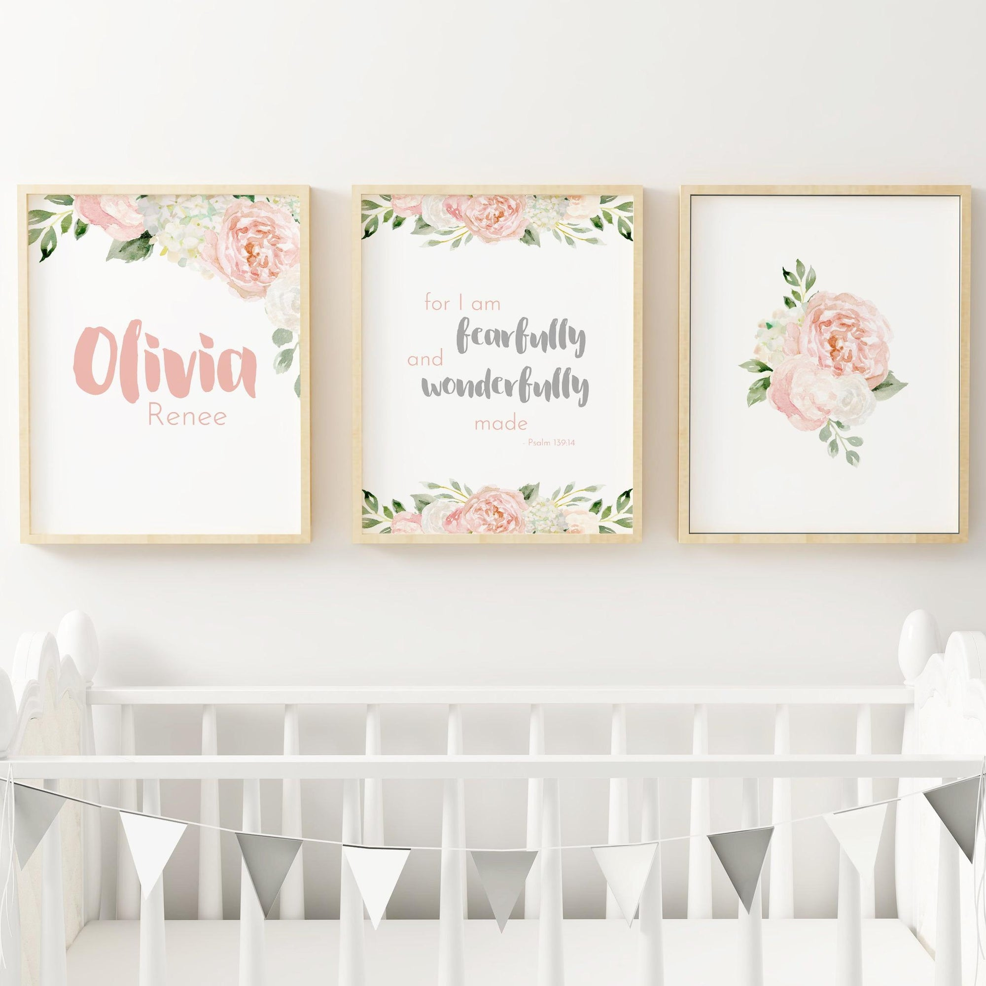 Dark Blush and Grey #2 // Set of 3 Prints Nursery Prints TheGracefulGoose