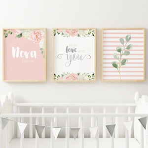 Dark Blush and Grey #3 // Set of 3 Prints