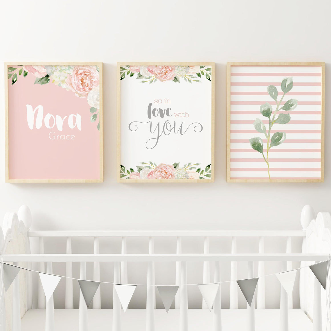 Dark Blush and Grey #3 // Set of 3 Prints | Nursery Prints | The Graceful Goose
