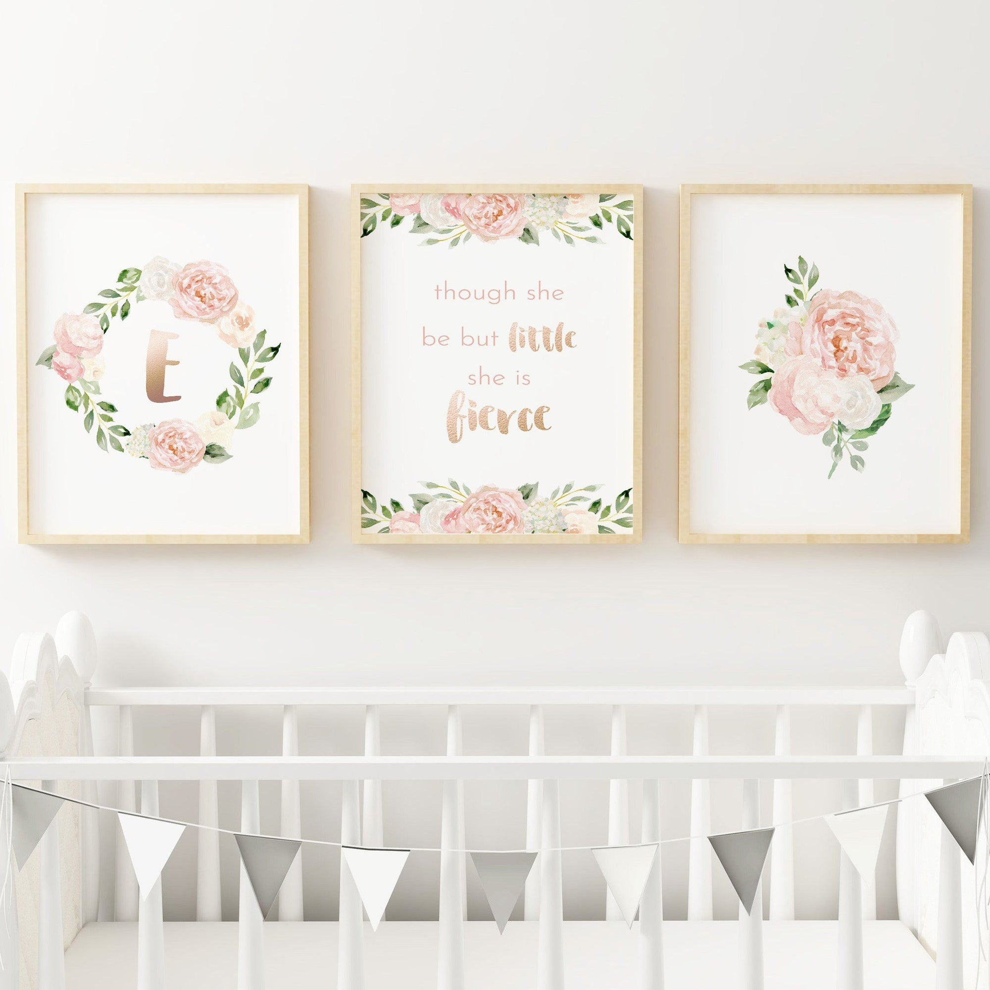 Dark Blush #2 // Set of 3 Prints Nursery Prints TheGracefulGoose