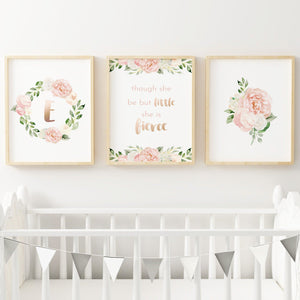 Dark Blush Nursery Print Set #2 | Nursery Prints | The Graceful Goose