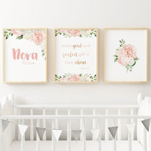 Dark Blush Nursery Print Set #3 | Nursery Prints | The Graceful Goose
