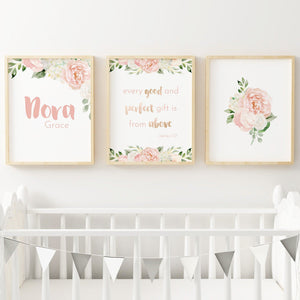 Dark Blush #3 // Set of 3 Prints