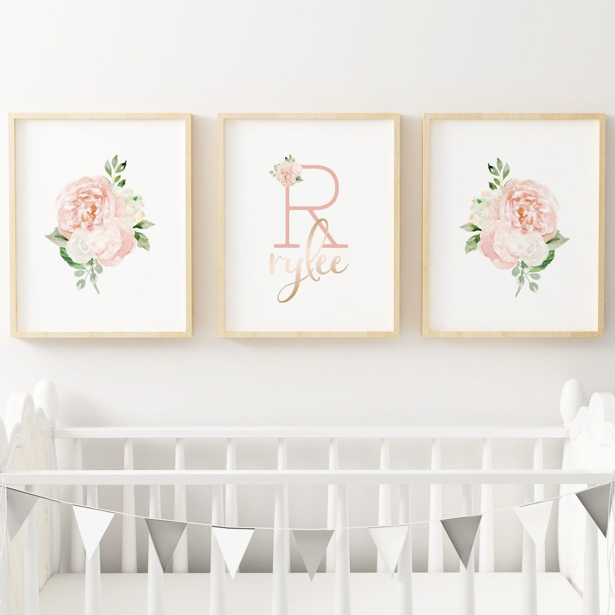 Dark Blush #5 // Set of 3 Prints Nursery Prints TheGracefulGoose