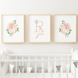 Dark Blush #5 // Set of 3 Prints | Nursery Prints | The Graceful Goose