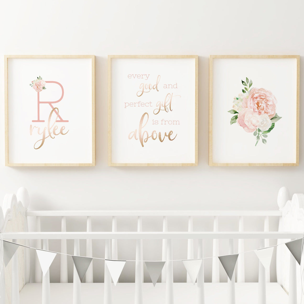 Dark Blush #6 // Set of 3 Prints | Nursery Prints | The Graceful Goose