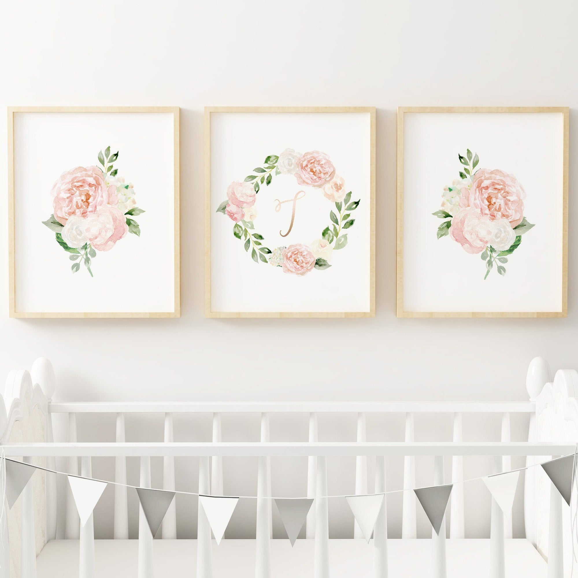 Dark Blush #7 // Set of 3 Prints Nursery Prints TheGracefulGoose