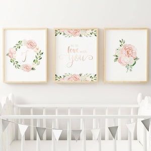 Dark Blush #8 // Set of 3 Prints | Nursery Prints | The Graceful Goose