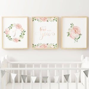Dark Blush Nursery Print Set #8