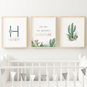 Desert #1 // Set of 3 Prints | Nursery Prints | The Graceful Goose