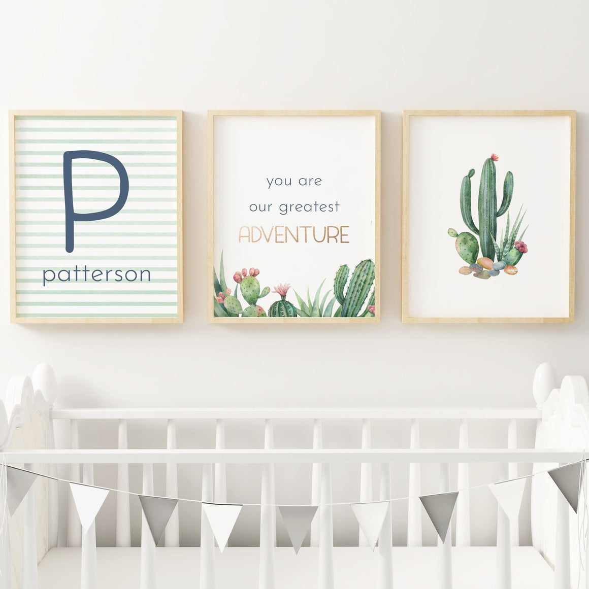 Desert #2 // Set of 3 Prints | Nursery Prints | The Graceful Goose