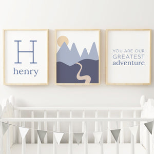 Dusty Blue Set #2 // Set of 3 Prints