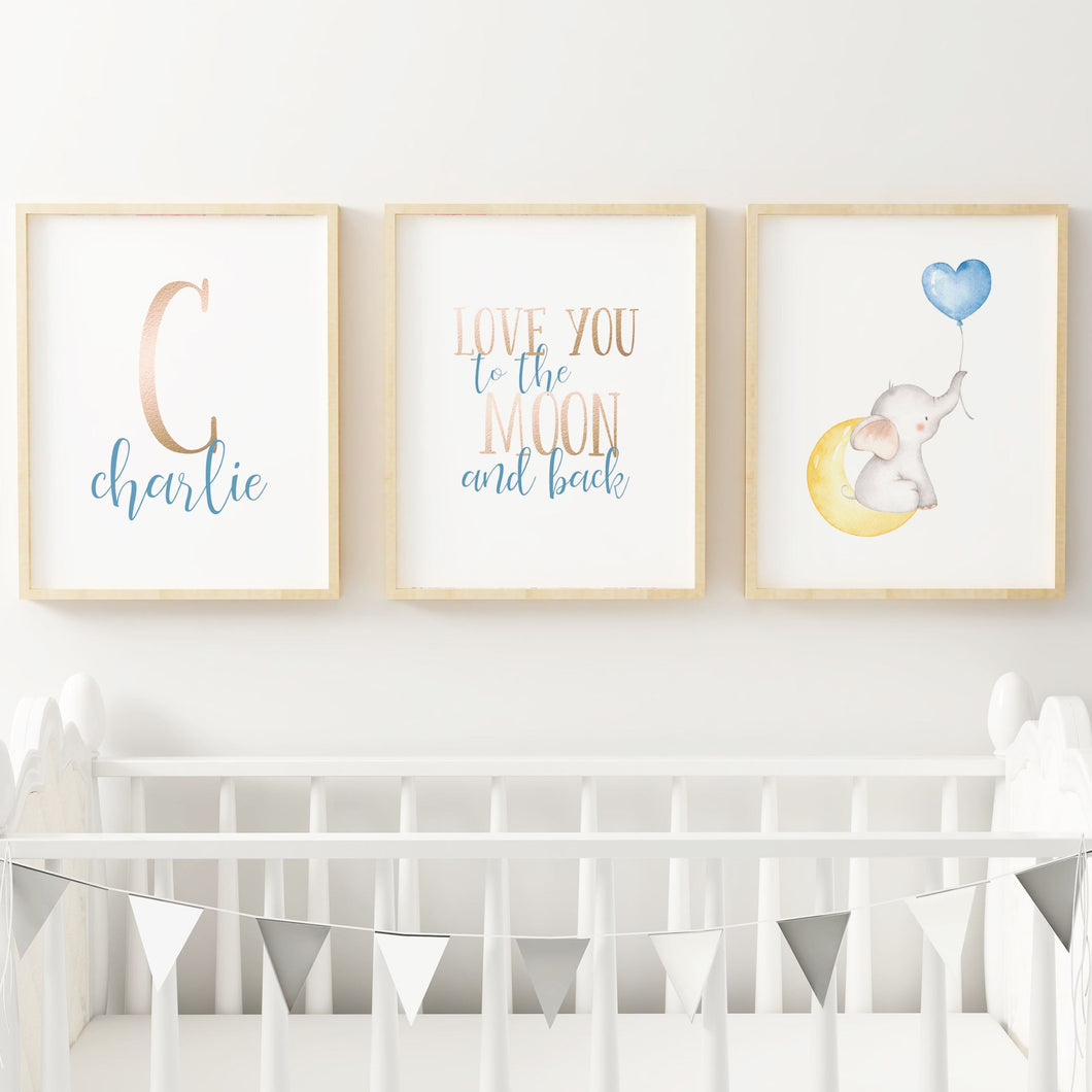 Elephant Nursery Print Set #1