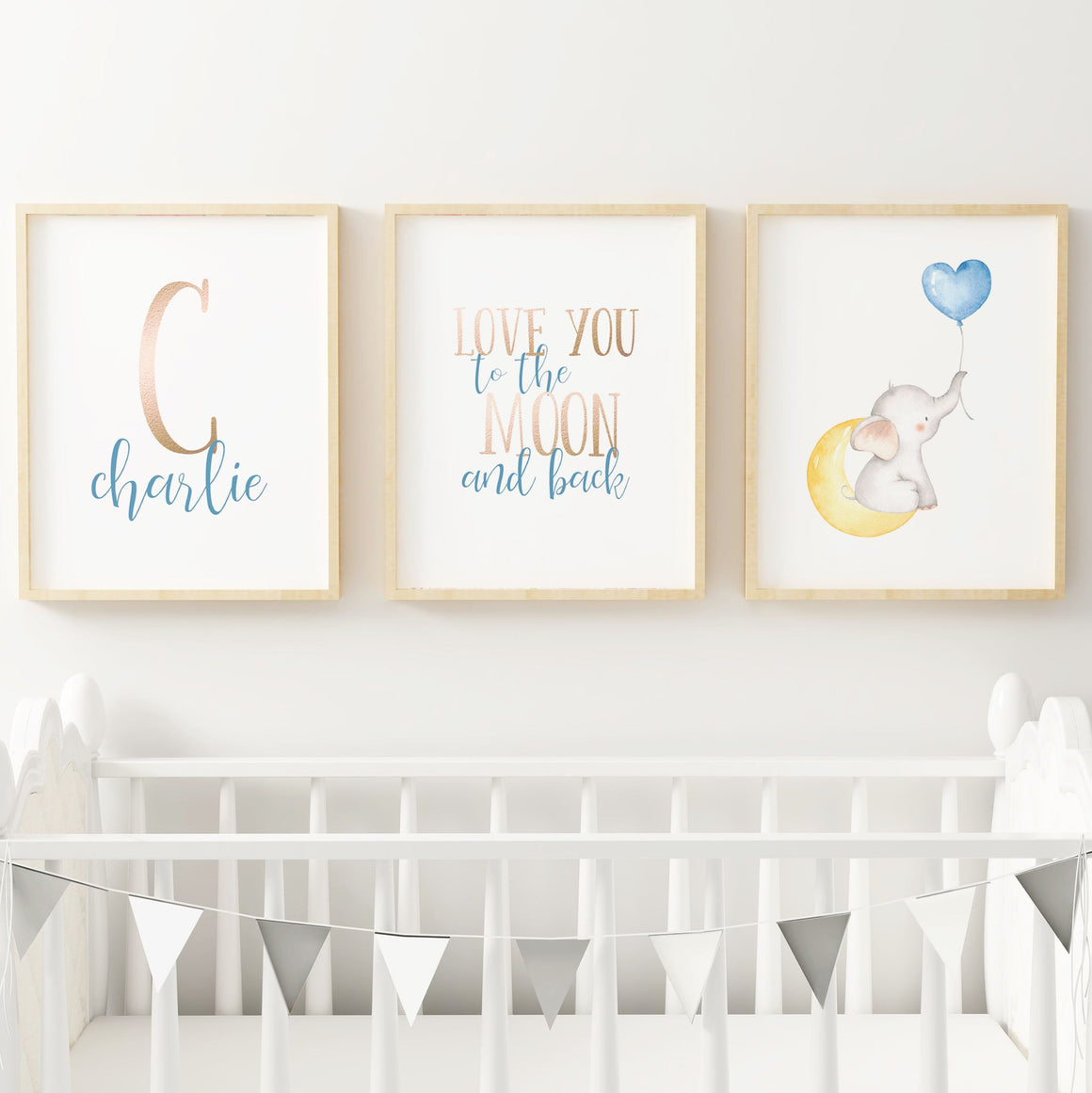 Elephant #1 // Set of 3 Prints | Nursery Prints | The Graceful Goose
