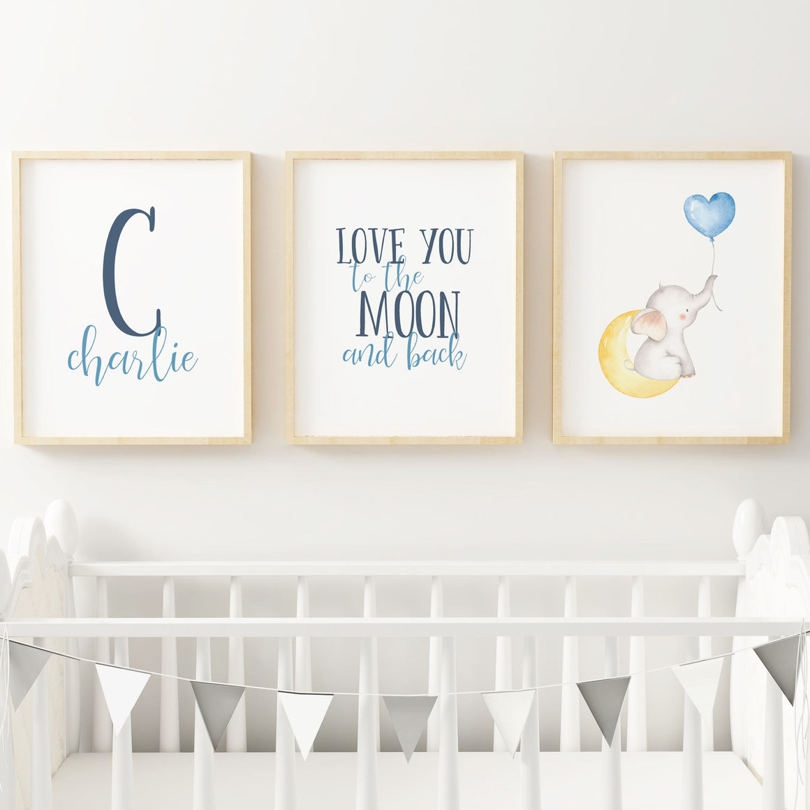 Elephant #2 // Set of 3 Prints | Nursery Prints | The Graceful Goose