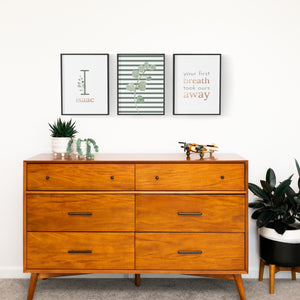 Green Modern Stripes // Set of 3 Prints | Nursery Prints | The Graceful Goose