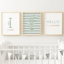 Green Modern Stripes Nursery Print Set #1 | Nursery Prints | The Graceful Goose