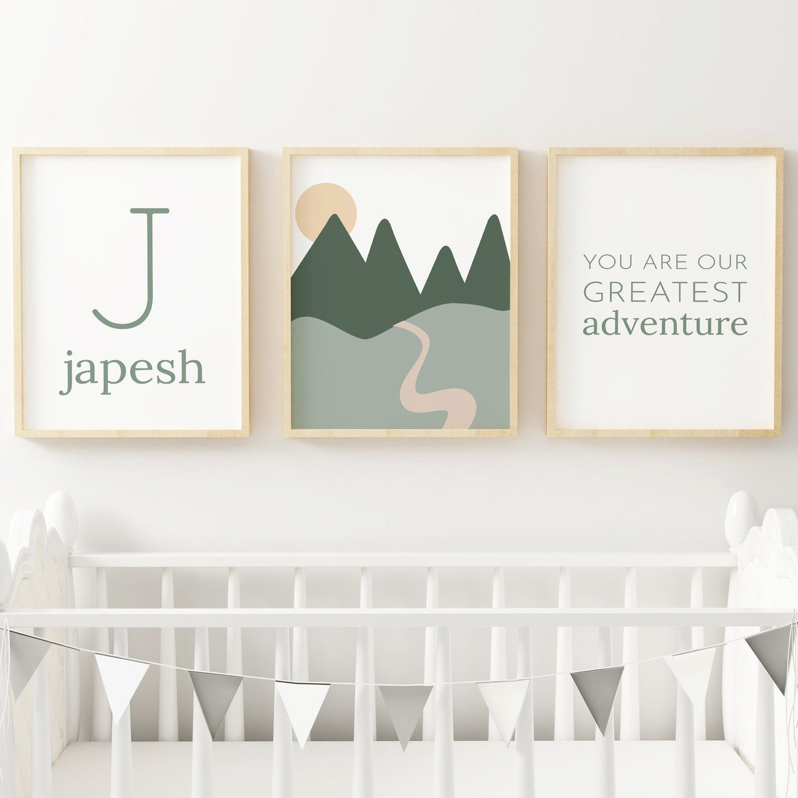 Green Set #2 // Set of 3 Prints | Nursery Prints | The Graceful Goose
