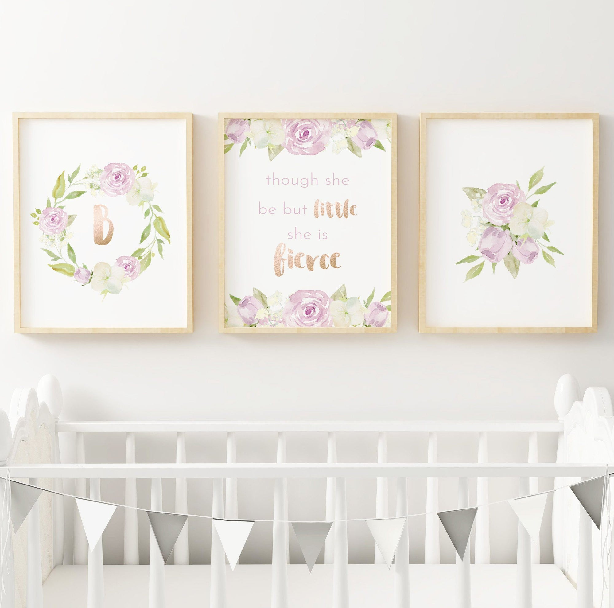 Lavender #4 // Set of 3 Prints Nursery Prints TheGracefulGoose