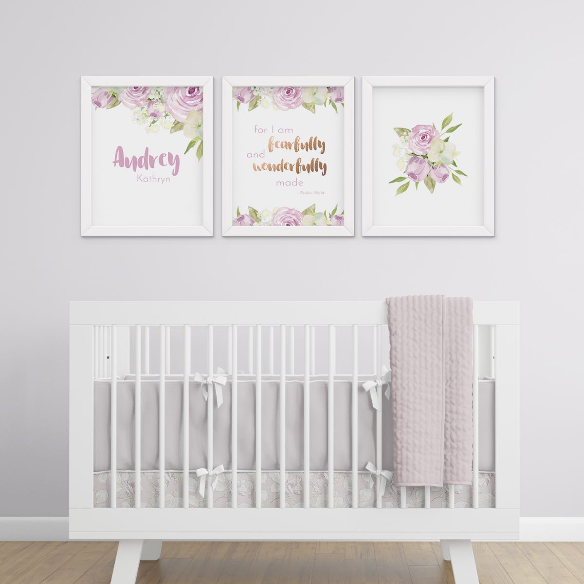 Lavender #1 // Set of 3 Prints Nursery Prints TheGracefulGoose